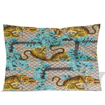 """Gucci Bengal printed 2 side picture pillow case zippered 18 x 26 """""""