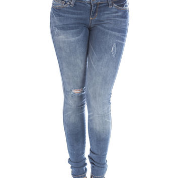 Vintage Blues Distressed Jeans