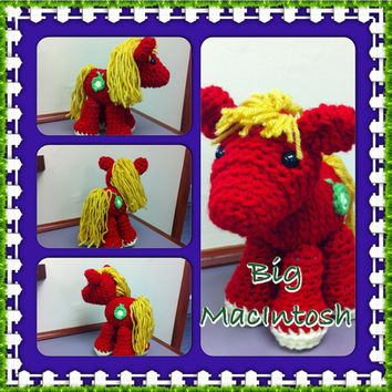 My Little Pony Big MacIntosh Crochet Amigurumi