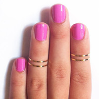 Gold Fashion Women Finger Tips Ring Trendy Fashion Jewelry