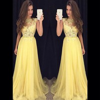 Free Shipping Cheap Long Evening Dress 2017 New Arrival Party Dress Elegant Evening Formal Dresses  Chiffon Prom Dresses