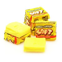 Now & Later Soft Taffy Squares - Banana: 120-Piece Tub