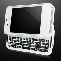 BoxWave Keyboard Buddy iPhone 4S / 4 Case - Backlit Edition - Bluetooth Keyboard Case with Integrated Apple Commands and Backlit Keys for Apple iPhone 4S/4 (Winter White)""