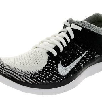 Women's Free 4.0 Flyknit White/White/Black/Volt Running Shoe 10.5 Women US