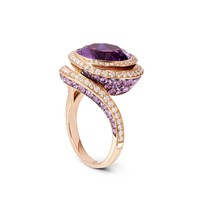 Whirlpool Collection Rose Gold Amethyst, Purple Sapphire And Diamond Ring | William & Son