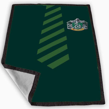 Slytherin Tie harry potter Blanket for Kids Blanket, Fleece Blanket Cute and Awesome Blanket for your bedding, Blanket fleece **