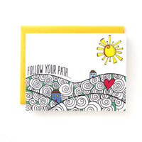 Follow Your Path - Notecard