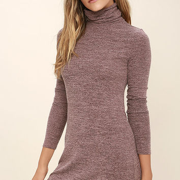 Gentle Fawn Libra Heather Mauve Long Sleeve Dress