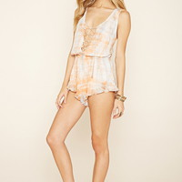 Tie-Dye Swim Cover-Up Romper
