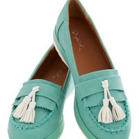 Tassel on a Cloud Flat | Mod Retro Vintage Flats | ModCloth.com
