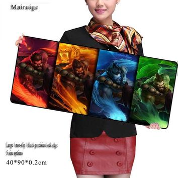 Mairuige Free Shipping  900*400*2  League of Legends Mouse Pad Overlock Edge Big Gaming Mouse Pad Send Boy Friend The Best Gift