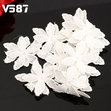 Vintage DIY Sewing Craft Ribbon Wedding Flower Pattern Embroidered Lace Ed-ge Trim Home Applique Accessory New