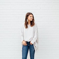 OVER AND OUT OVERSIZED TOP