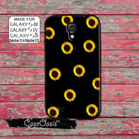 Sunflower Pattern Cute Flower Floral Yellow Custom Galaxy S5 and S4 and S3 Case and Galaxy Note 2 and Note 3 Case