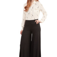 Wide Leg Luxuriously Laid-back Pants in Black