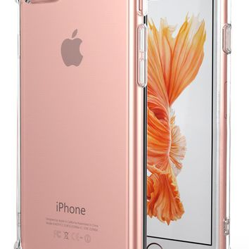 iPhone 7 Case, iPhone 8 Case, Matone Apple iPhone 7/8 Crystal Clear Shock Absorption Technology Bumper Soft TPU Cover Case for iPhone 7 (2016)/iPhone 8 (2017) - Clear