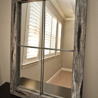 Mirror Rustic Faux Window - Large