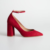 Ankle Strap Pumps - Red - Pumps - & Other Stories US