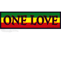 One Love Rasta Bumper Sticker on Sale for $2.99 at HippieShop.com