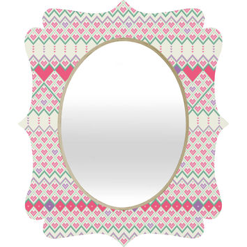 Belle13 Love Pattern Quatrefoil Mirror