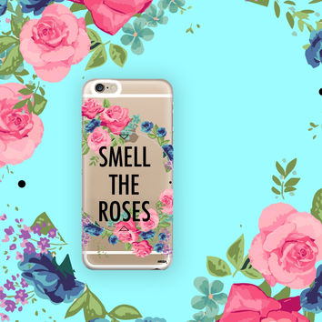 Smell The Roses - Clear TPU Case Cover