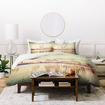 Maybe Sparrow Photography Central Park Mirror Duvet Cover