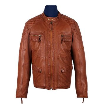 Men's Jade Cognac Leather Jacket