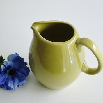 Vintage Pitcher Russel Wright - Iroquois Casual China - Chartreuse - Mid Century Modern