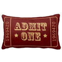Circus Theatre Ticket Admit One Red