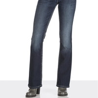 Silver Jeans ® Suki Gray Stitch Flap Pocket Jeans - Dark Sandblast
