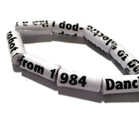 Arctic Monkeys Bracelet - I Bet You Look Good On The Dancefloor, Song lyrics, Upcycled, Made in Melbourne