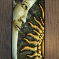 iPhone 4 4S 5 5S 5C Samsung Galaxy S3 S4 S5 Case Rubber Sun and Moon