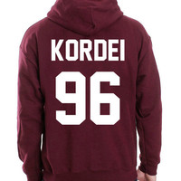 Fifth Harmony Hoodie Normani Kordei 96 Hooded Sweatshirt Logo Black White Gray Red Maroon Unisex Hoodie Tee S,M,L,XL #4