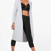 Darcy Long Sleeve Tie Waterfall Duster | Boohoo