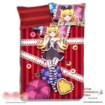 New Oshino Shinobu - Bakemonogatari Japanese Anime Bed Blanket or Duvet Cover with Pillow Covers ADP-CP151205
