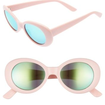 BP. 50mm Mirror Lens Oval Sunglasses | Nordstrom