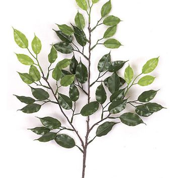 """UV Protected Outdoor Fake Ficus Leaf Branch - 24"""" Tall"""