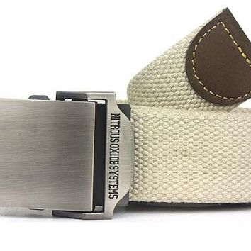 Men Military Style Canvas Belt