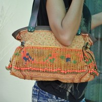 Vintage Antique Ethnic Fabric HMONG Bag - Thailand