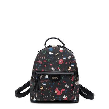 Student Backpack Children 2018 New Sweet Style Female Student Backpack Soft Surface Zipper School Bag Large Capacity Girl Teenager Book Bags Laptop bag AT_49_3