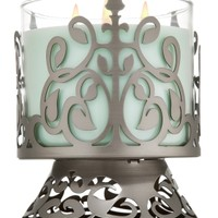 Black Nickel French Scroll 14.5 oz. 3-Wick Candle Sleeve   - Slatkin & Co. - Bath & Body Works