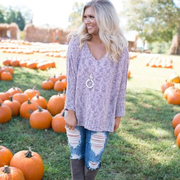 Mauve Speckled Sweater