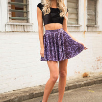 Imperial Rose Cheerleader Skirt