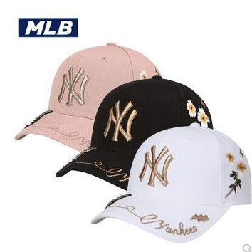 MLB New York Yankees Women and Men Embroidery Sports Sun Hat Baseball Cap Hat 003