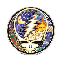 Mini Grateful Dead - Day/Night Steal Your Face Bumper Sticker on Sale for $1.99 at HippieShop.com
