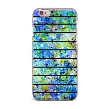"Ebi Emporium ""Stripes & Snowflakes"" Blue Green iPhone Case"