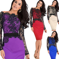2015 Sexy Fashionable Casual Dress Summer Wedding Party Dress Vintage Prom Dresses Flower Embroidery W138