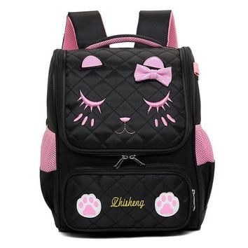 School Backpack trendy Children School Bags primary cats  girls orthopedic backpack schoolbag kids satchel sac enfant mochila infantil AT_54_4