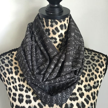 Supernatural Angel Tablet infinity scarf