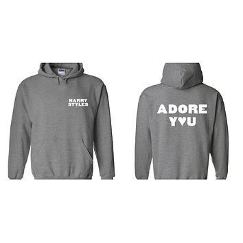 "Harry Styles ""HS / Adore You BACK"" Hoodie Sweatshirt (Sizes 3XL - 5XL)"